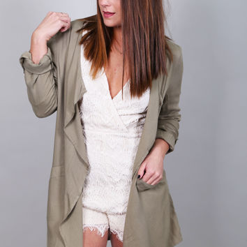 Your Best Lightweight Cardigan {Olive}
