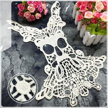 Skull Cotton Embroidered Water Soluble Lace For Women clothing