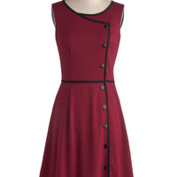 ModCloth Mid-length Sleeveless Chord-ially Yours Dress in Magenta
