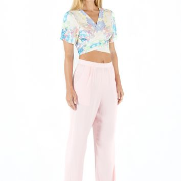 High Waisted Resort Pants - Baby Pink