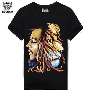 High Quality Bob Marley Quotes Music Reggae Rastafari men's high quality tee t-shirt dress camisetas camisa clothing t shirt