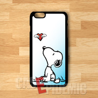 Snoopy and flying heart cute -srrd for iPhone 4/4S/5/5S/5C/6/ 6+,samsung S3/S4/S5/S6 Regular,samsung note 3/4