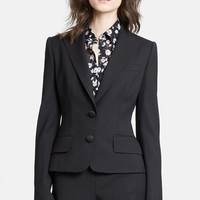 Women's Dolce&Gabbana Two Button Stretch Wool Jacket,
