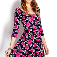 Lovely Rose A-line Dress