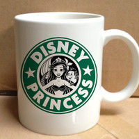 ariel starbuck disney princess design for mug, ceramic, awesome, good,amazing