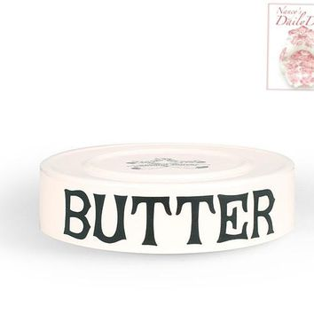 Black Advertising Grocers Display English BUTTER Dairy Slab Tray