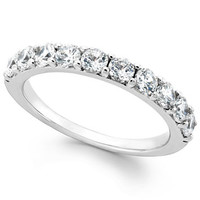 Diamond Ring in Sterling Silver (1 ct. t.w.) | macys.com