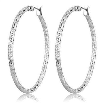 Night Out - Women's Rhodium Plated Hoop Earrings