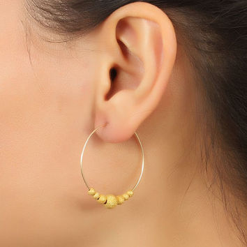 "Gold filled hoop earrings, hoop earrings, bridal earrings, 14k gold filled hoop earrings, everyday earrings, minimalist, ""Iris2"""