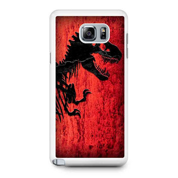 Jurassic Park Jurassic World Am Samsung Galaxy Note 5 Galaxy Note Edge Galaxy Note 4 Galaxy Note 3 Case