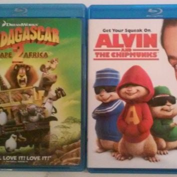 Blu-Ray Madagascar Escape 2 Africa or Alvin and the Chipmunks