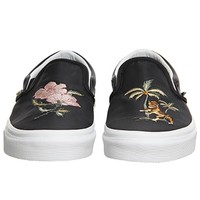 Vans Vans Classic Slip On Black Embroidery Blanc - Hers trainers