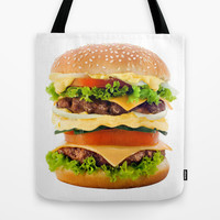 Cheeseburger YUM Tote Bag by All Is One
