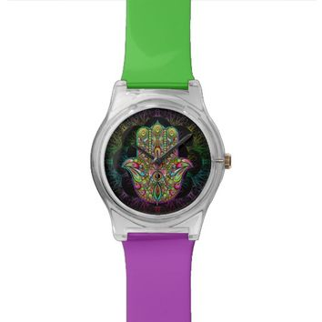 Hamsa Hand Psychedelic May28th Watch