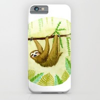 Sloth iPhone & iPod Case by Kirsten Sevig