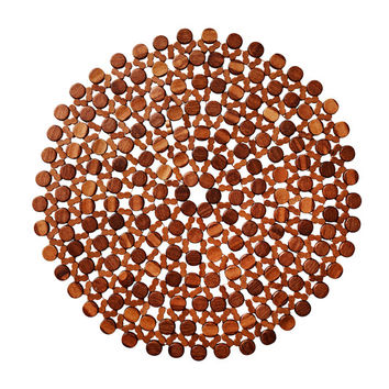 Round Bamboo Placemat by Kim Seybert | Brown S/ 4