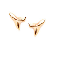 Tiny Shark Tooth Earrings