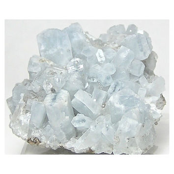 Pale Blue Celestite Celestine Crystals partially pseudomorphed by Strontianite Heavenly blue Mineral Specimen from an estate collection