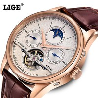 Mechanical Leather Men's Watch