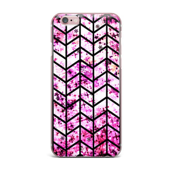 "Ebi Emporium ""Chevron Wonderland"" Pink Black iPhone Case"
