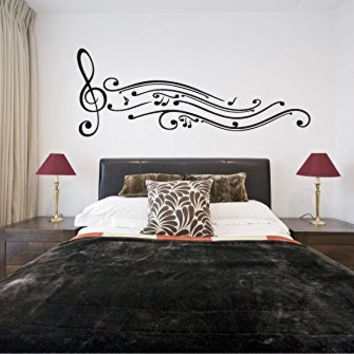 Music Notes Vinyl Wall Words Decal Sticker Graphic