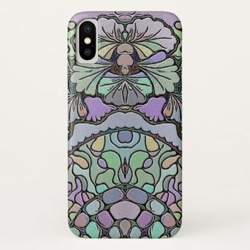 Old world purple pansy tile print phone case