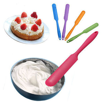 Silicone Baking Cream Butter Cake Batter Spatula Scraper Brush Mixer Tool Good