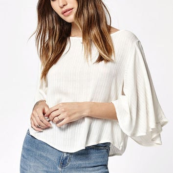 Billabong Heart Wants Flutter Sleeve Top at PacSun.com