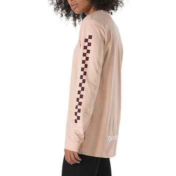 Oversized Checker Long Sleeve T-Shirt | Shop At Vans