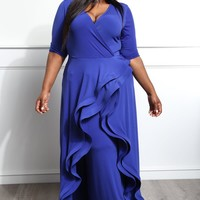 Personal Confession Plus Size Ruffle Maxi Dress Dresses+ GS-LOVE