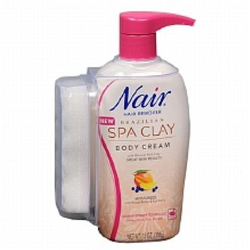Nair Brazilian Spa Clay Hair Remover Body Cream | Walgreens