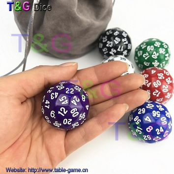 1 pc T&G High Quality 60 sided Boardgame Dice D60 Dungeon and Dragons rpg d&d dados math education