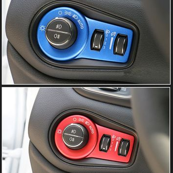 Car Light Switch Cover Car Sticker Suitable for Fiat 500X 2014 2015 2016 Car Styling Accessories