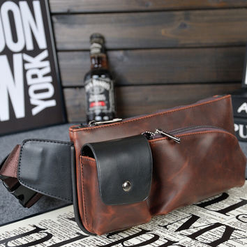 sports casual small leather bag