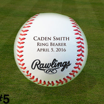 Custom Personalized Engraved Baseball, Ring Bearer, Groomsmen, Birthday, Christmas Gift, Baby Announcement, Keepsake