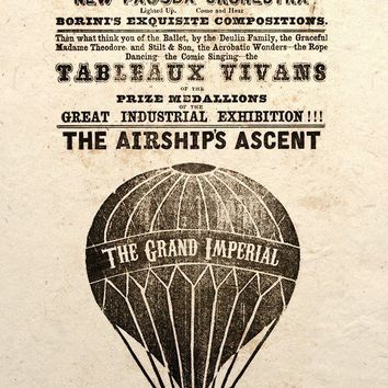 Art Print Airship Ascent Poster by TigerHouseArt on Etsy