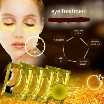 Gold 24K Collagen  Face Treatment Mask Eye Mask Eye Patches Anti Aging Dark Circles remover Pouches Puffiness Face care