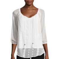 Alyx® Embroidered Peasant Top