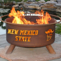 NMSU New Mexico State University Aggies NCAA Portable Outdoor Grilling Fire Pit