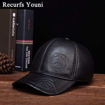 392481453ca Trendy Winter Jacket RY118 Male Cowhide Genuine Leather Wide Bri. Item  Type  Baseball Caps ...