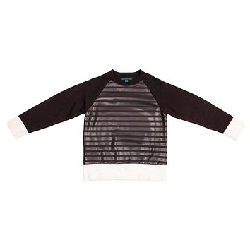 Blumint Boys' DANILO Front Leather Sweater
