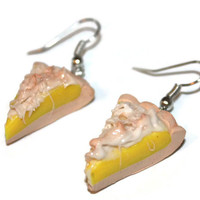 Lemon Meringue Pie SCENTED Dangle Earrings