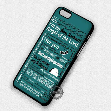 Castiel Quotes Supernatural - iPhone 7 6 Plus 5c 5s SE Cases & Covers