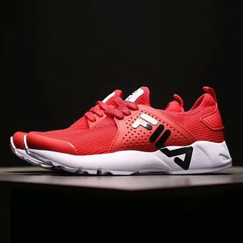 FILA 2018 spring and summer new classic logo running shoes F-ADD-MRY red