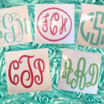 2 inch Monogram Decal, Planner Sticker