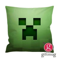 Creeper Minecraft Characters Cushion Case / Pillow Case