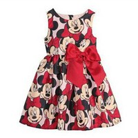 Summer Minnie Mouse Sleeveless Dress