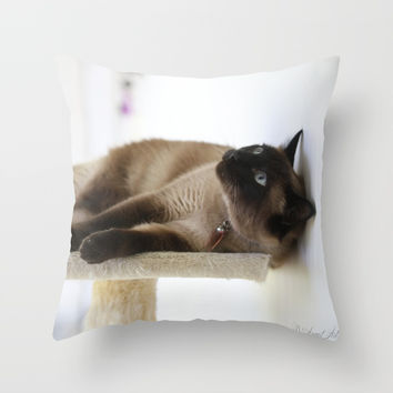 What's Up? Throw Pillow by Theresa Campbell D'August Art