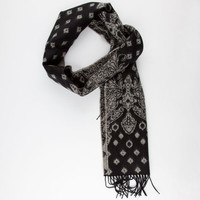 Bandana Print Scarf Black One Size For Men 25164310001