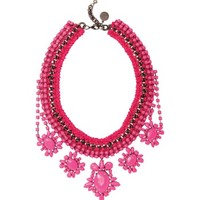 Venessa Arizaga Crazy For You Necklace - Pink Collar Necklace - ShopBAZAAR